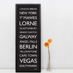 Personalised Destination Print (Large)